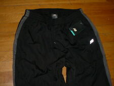 NWT New Balance Mens Athletic Pants Black/gray-trim Lined/Water-Wind-Resistant L