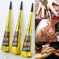 New Black Temporary Tattoo Natural Herbal Henna Cones Body Art Paint Mehandi Ink