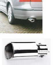 Auspuffblende 80x65 mm Endrohr Auspuffendrohr Chrom Universal sportliche Optik