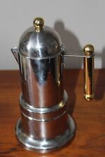 VEV Depossato Expresso Coffee Pot Made in Italy Inox 18 / 10 Rare & Used Cond