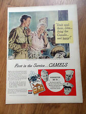 1944 Camel Cigarette Ad WW II Home on Furlough