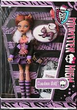 Monster High MH Doll Clawdeen Wolf Wave 1 Re Release w/pet Crescent