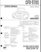 Sony Original Service Manual für CFD-970 S