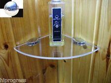 Bathroom Shower Wall Corner Clear Acrylic Plexi-glass Floating Shelf 19X19 cm