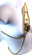 Único de un tipo! Vestido Collar Pieza De Oro Multi Piedra Partido formal (St7)