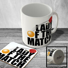 MAC_SPRT_135 LADY OF THE MATCH (table tennis/ping pong) - Sport Mug and Coaster