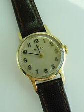 LOVELY onorevoli Boxed Vintage Omega Oro 9 Carati mano WIND WATCH