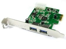 2-Ports USB3.0 USB 3.0 PCIE PCI-E Express Controller Card upto 5Gbps Win7