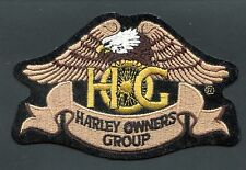 VINTAGE HARLEY DAVIDSON HARLEY OWNERS GROUP PATCH EAGLE SEE SCAN