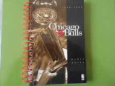 1998-99 CHICAGO BULLS MEDIA GUIDE Yearbook DEF 3X NBA CHAMPIONS 1989 Program AD