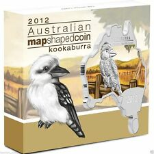 Australia - 2012 - Map Shaped Coin Series - KOOKABURRA 1oz Silver Coin