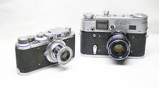 FED-1 + FED-4: 2 Rare Russian USSR cameras Very Good coondition.