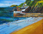 Signed Cornish art prints, The Banjo and Looe Island, Cornwall 10x8 inch