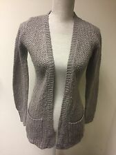 Women Cardigan Grey Sparkly Knit Size 6 (8)