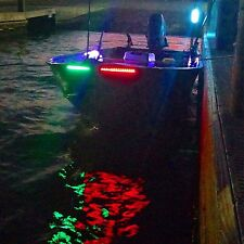 4X White Green Red Bow LED 1 Ft Submersible Navigation Light Stern Boat 12V Nav