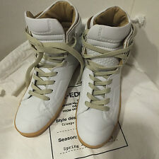 Maison MARTIN MARGIELA PARIS h & m high top sneakers Bianco WHITE in pelle 37 US 6 UK 4
