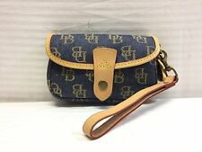 Dooney and Bourke Canvas Leather Strap Wristlet, Purse