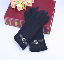 Good Quality over-soft pile fabric Cotton Velvet Gloves One Pair Women Fashion