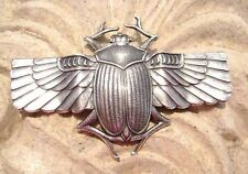 Genuine Art Nouveau/Jugendstil ornament - Egyptian scarab 70mm silver plated