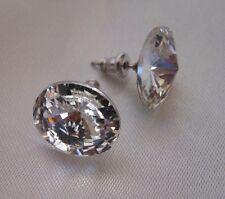 HYPOALLERGENIC Crystal Stud Earrings Lead Free Nickel Free in VERY LARGE Clear