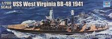 NEW Trumpeter 1/700 USS West Virginia BB48 Battleship 1941 5771