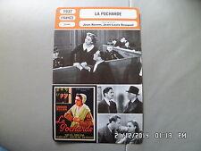 CARTE FICHE CINEMA 1937 LA POCHARDE Germaine Rouer Jacqueline Daix Dumonceau