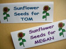 UNUSUAL CHRISTENING PRESENT / GIFT – PERSONALISED PACK of 10 SUNFLOWER SEEDS