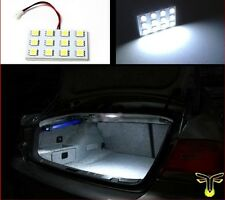 1x White LED 12-SMD 5050 cargo/trunk light panel xenon w/ adapters