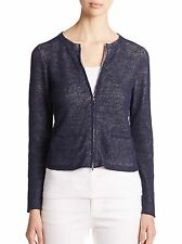*NEW* $268 Eileen Fisher Knit Midnight Jewel Zip Down Cardigan womens XS