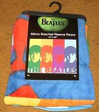 """The Beatles Micro Raschel Fleece Throw Blanket 50"""" x 60"""" NEW!"""
