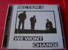 Section 5 We Won't Change CD NEW SEALED 2010 Punk/Oi!/Skinhead