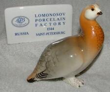 Lomonosov Russian Porcelain Bird Figure Grouse