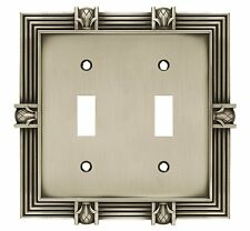 64460 Brushed Satin Pewter Pineapple Double Switch Cover Plate