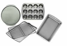 wilton nonstick 5PC bakeware set muffin cookie cake rack pizza paypal #pdle