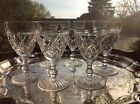 "6 Stuart Crystal Victoria Wine Glasses 4 5/8"" Signed"
