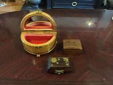 Lovely Little Collection Of Vintage Wooden Trinket Boxes