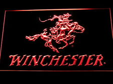 Winchester Firearms Gun LED Neon Sign Man Cave D243-R