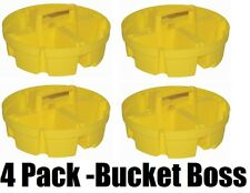 (4) ea Bucket Boss 15051 4 Compartment 5 Gallon Bucket Stacker Storage Organizer