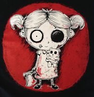 Zombie Girl T-Shirt Mens Womens Goth Rock Undead Corpse Nightmare Teddy Axe