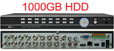 CIB CCTV 16 CH 960H 1080P HDMI Real Time DVR Network Remote viewing 1000GB  HDD