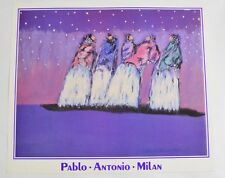 "Pablo Antonio Milan Native american poster print 4 women and a baby 26"" x 22"""