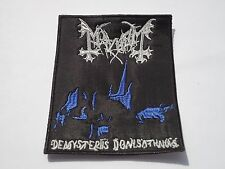 MAYHEM DE MYSTERIIS DOM SATHANAS EMBROIDERED PATCH