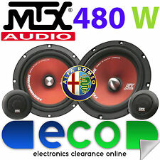 "Alfa Romeo 145 1994-00 MTX 6.5"" 480 Watts Component Kit Front Door Car Speakers"