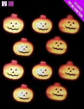 Halloween Decoration 10 Indoor Pumpkin LED Lights Battery Operated NEW