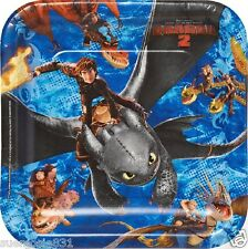How to Train Your Dragon 2 Square Lunch Dinner Plates 8pcs Party Supplies