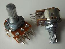 10pcs WH148 B20K Shaft 15mm Linear Dual Stereo Potentiometer Pot 20K