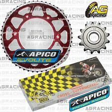 Regina 520 RH Chain Apico Sprocket Set 13T 51T Rear Red For Honda CRF 250X 2010