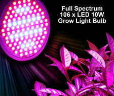 Full Spectrum 106LED 10W Hydroponic Grow Light Lamp Bulb Red Blue Veg Flower E27