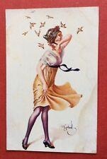 CPA. Illustrateur GERBAULT. Pierrette de Paris. Série 36. N°4. Coquin.