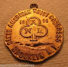 Antique 1896 Whist Medallion - Sixth American Whist Congress Brooklyn New York g